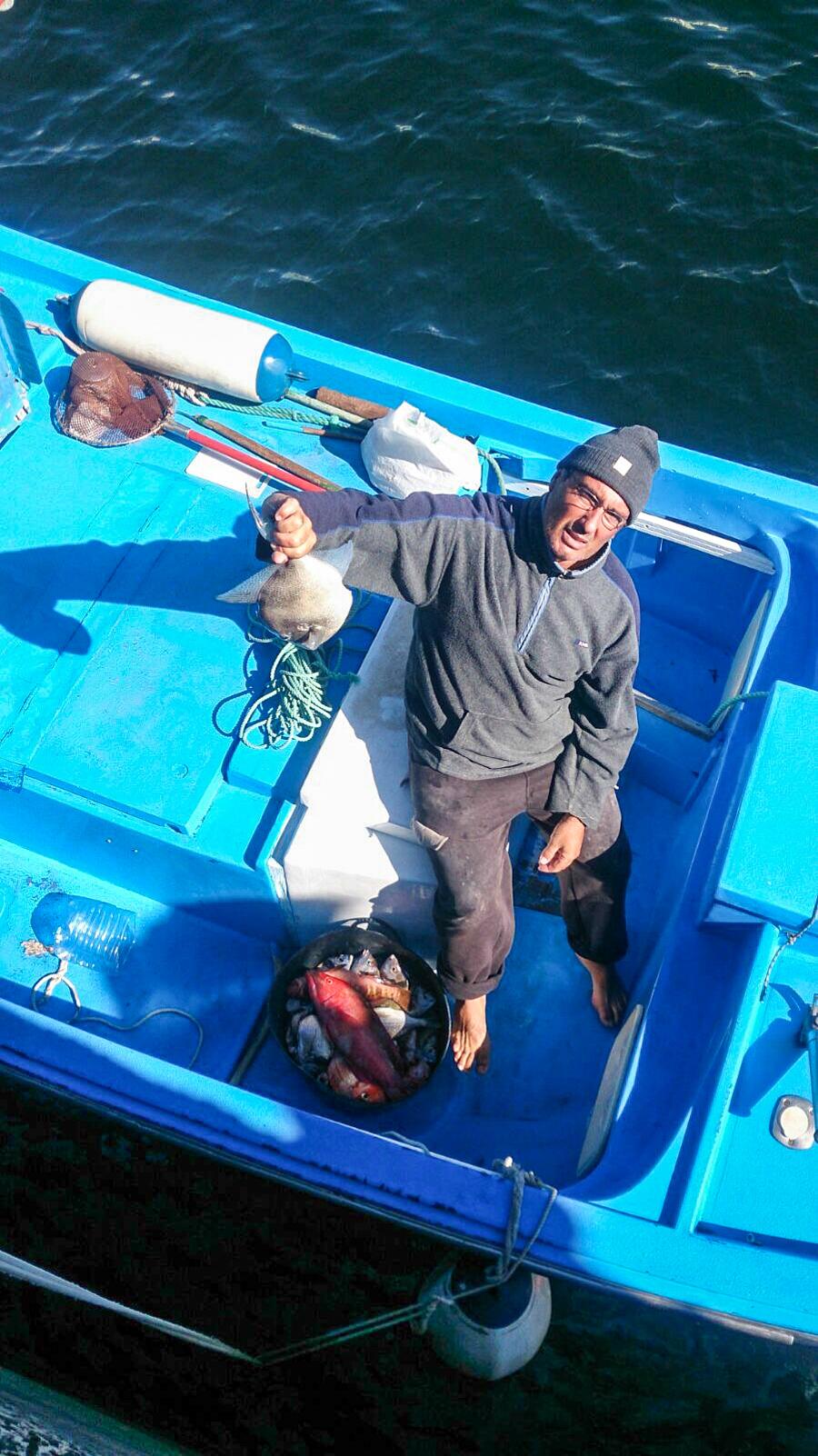 Pescador profesional Alfredo es un veterano del surf en Fuerteventura