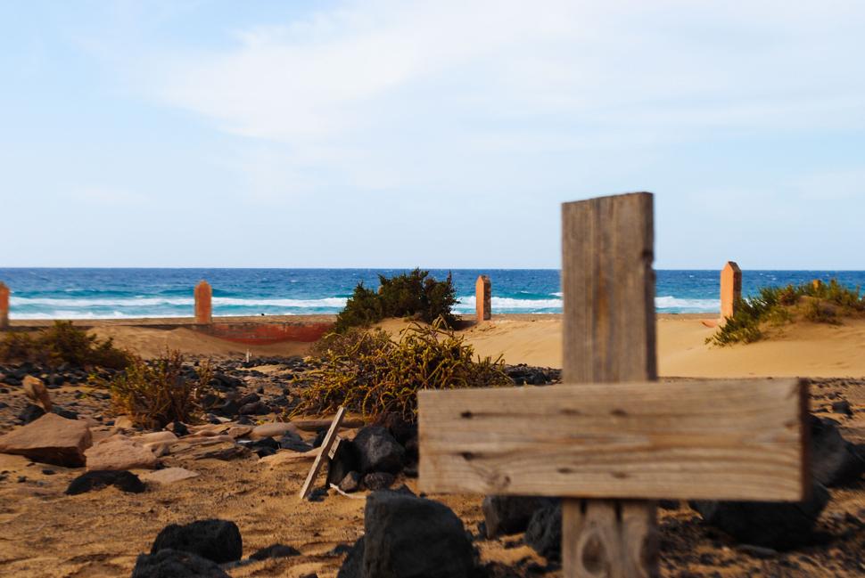 Cementerio en la playa   Macaronesia Fuerteventura