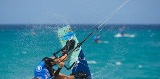 Alexandra Torres The new kitesurf promise, astonishes the World Championship of Sotavento | Macaronesia Fuerteventura