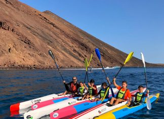 Equipo Onexe de surfski en La I Copa de Canarias
