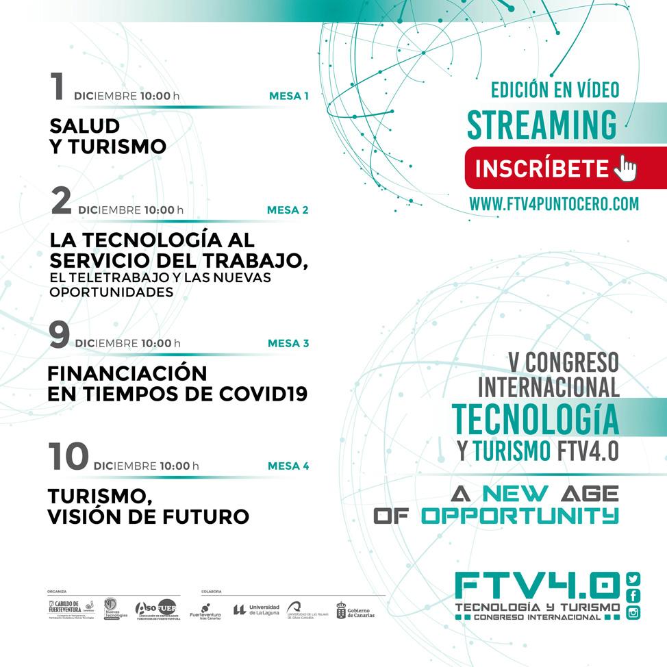 Programa V Congreso Internacional Tecnología y Turismo Fuerteventura 4.0.