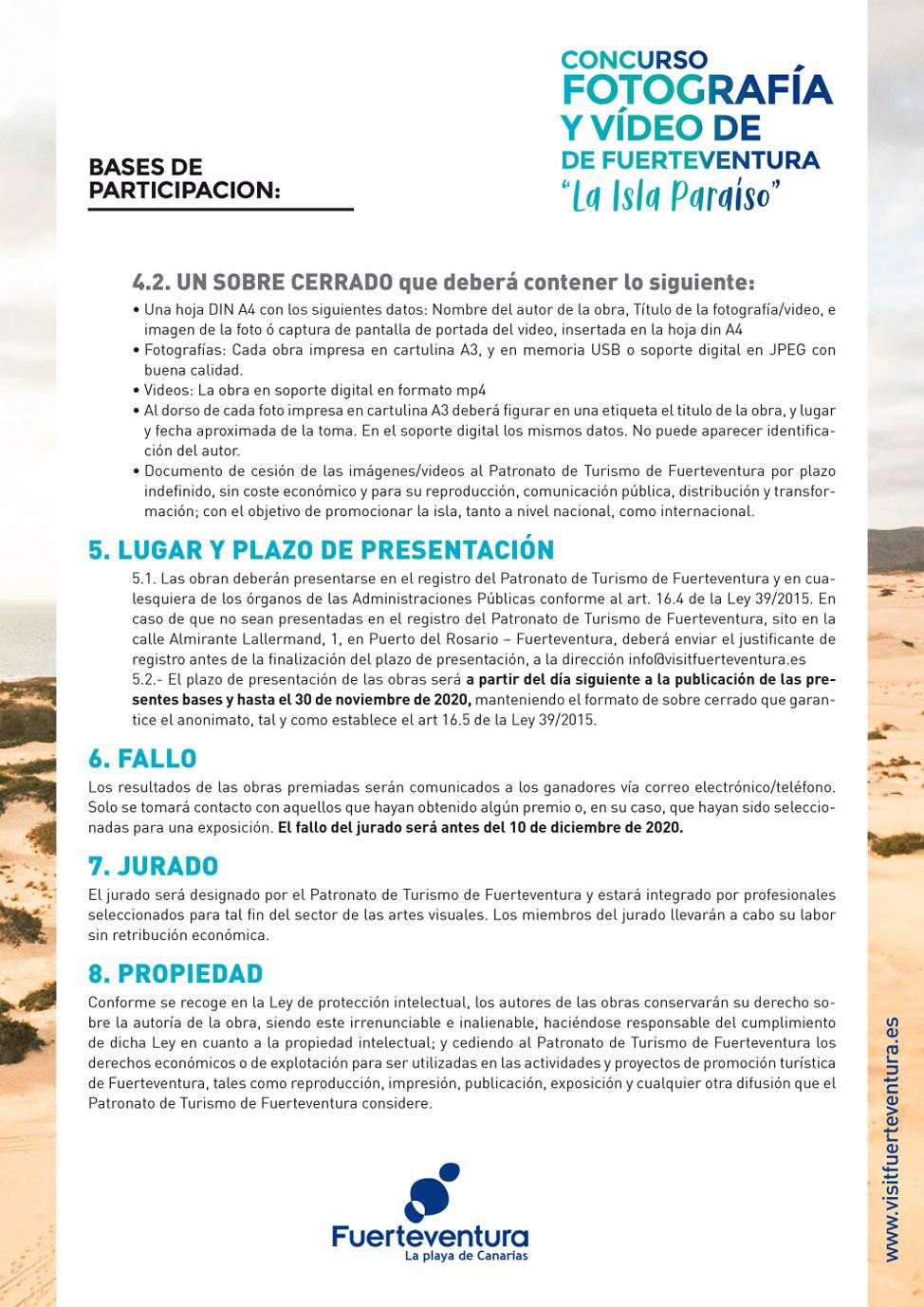 Bases Concurso de Fotografía y Video | Macaronesia Fuerteventura