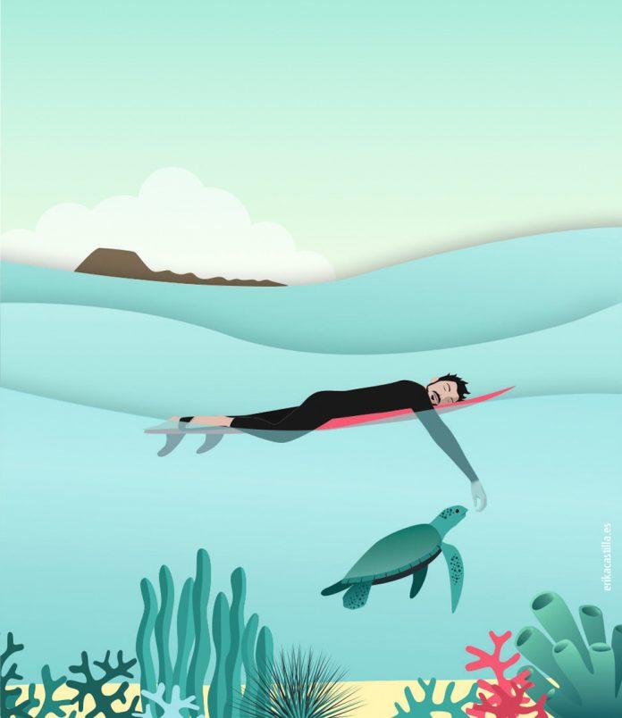 Ilustración de Erika Castilla para el relato de Cerocoma | Macaronesia Fuerteventura
