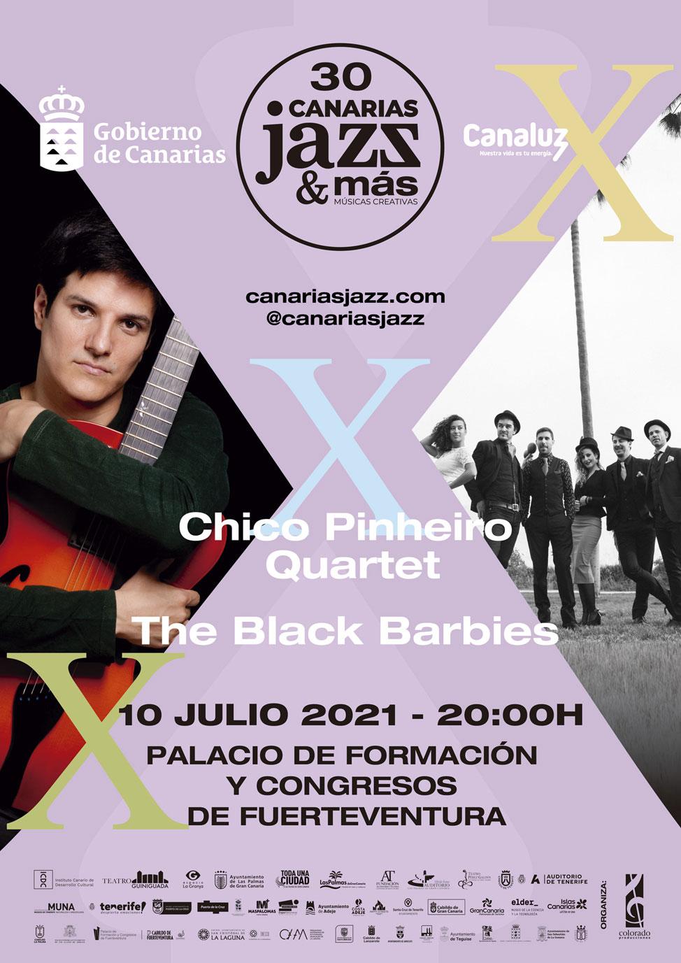 Cartel Fuerteventura del Festival Internacional Canarias Jazz & Más | Macaronesia Fuerteventura
