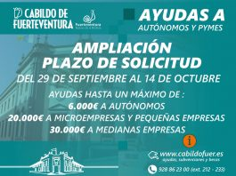El Cabildo amplía el plazo para solicitar ayudas a autonomos y pymes hasta el 14 de octubre